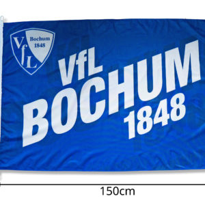 Bochum Nr.1 Bulldogge Fussballfahne Fahne Flagge Fahnen 1,50x0,90m mit Ösen